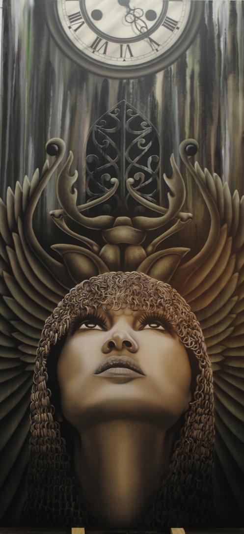 Mujer y Tiempo 300 x 140 cm